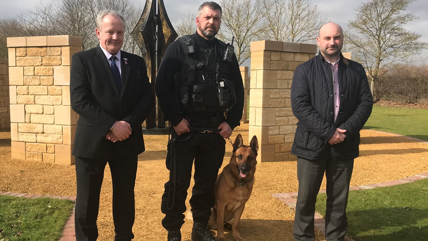 DPCC & PCC with Police dog and handler