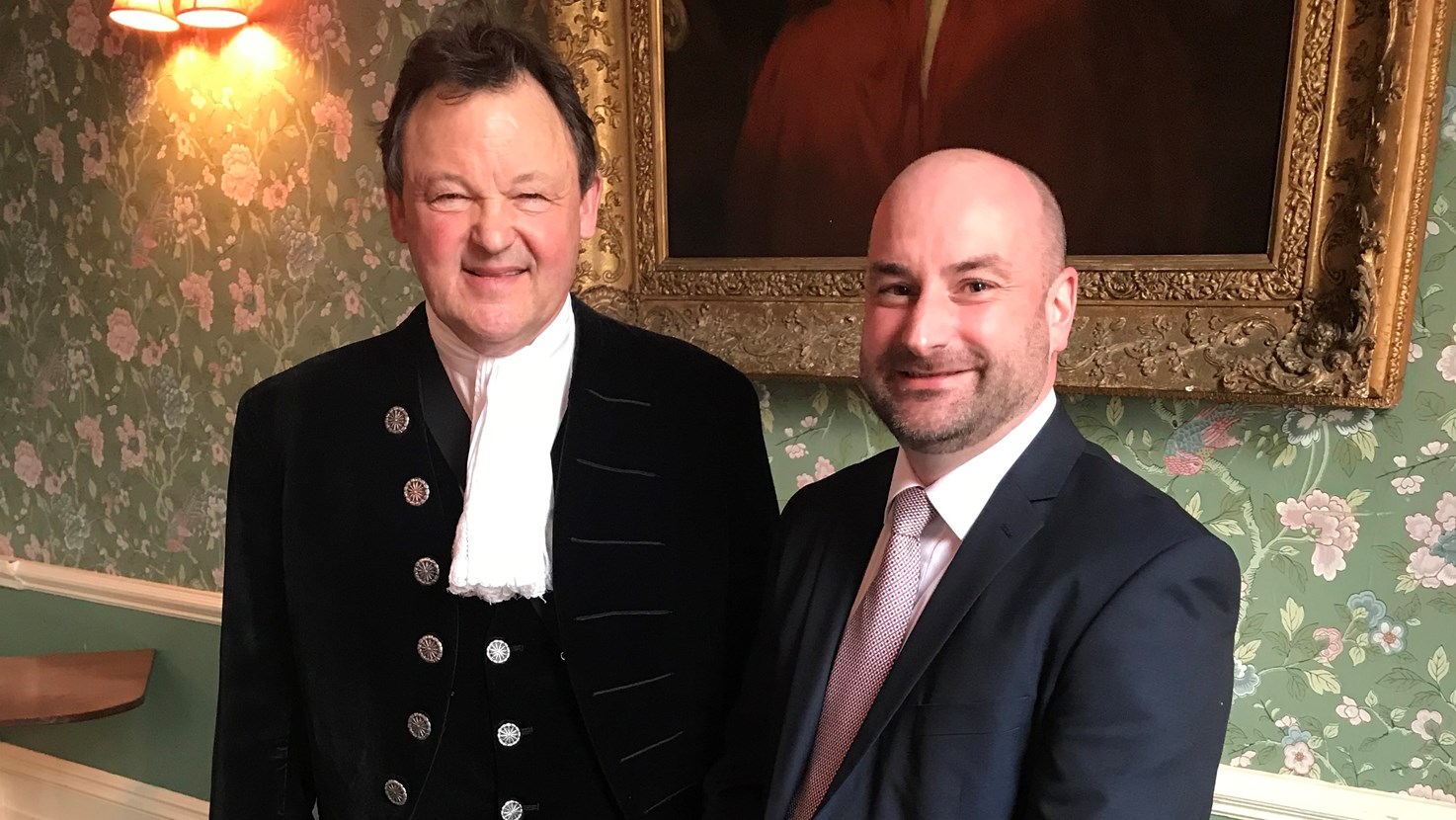 PCC Marc Jones pictured with the High Sheriff