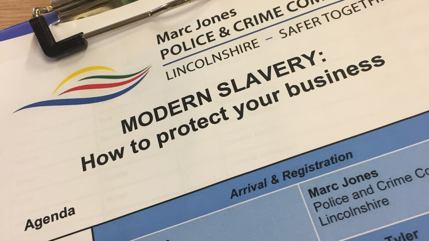 PCC holds Modern Slavery Event for Businesses