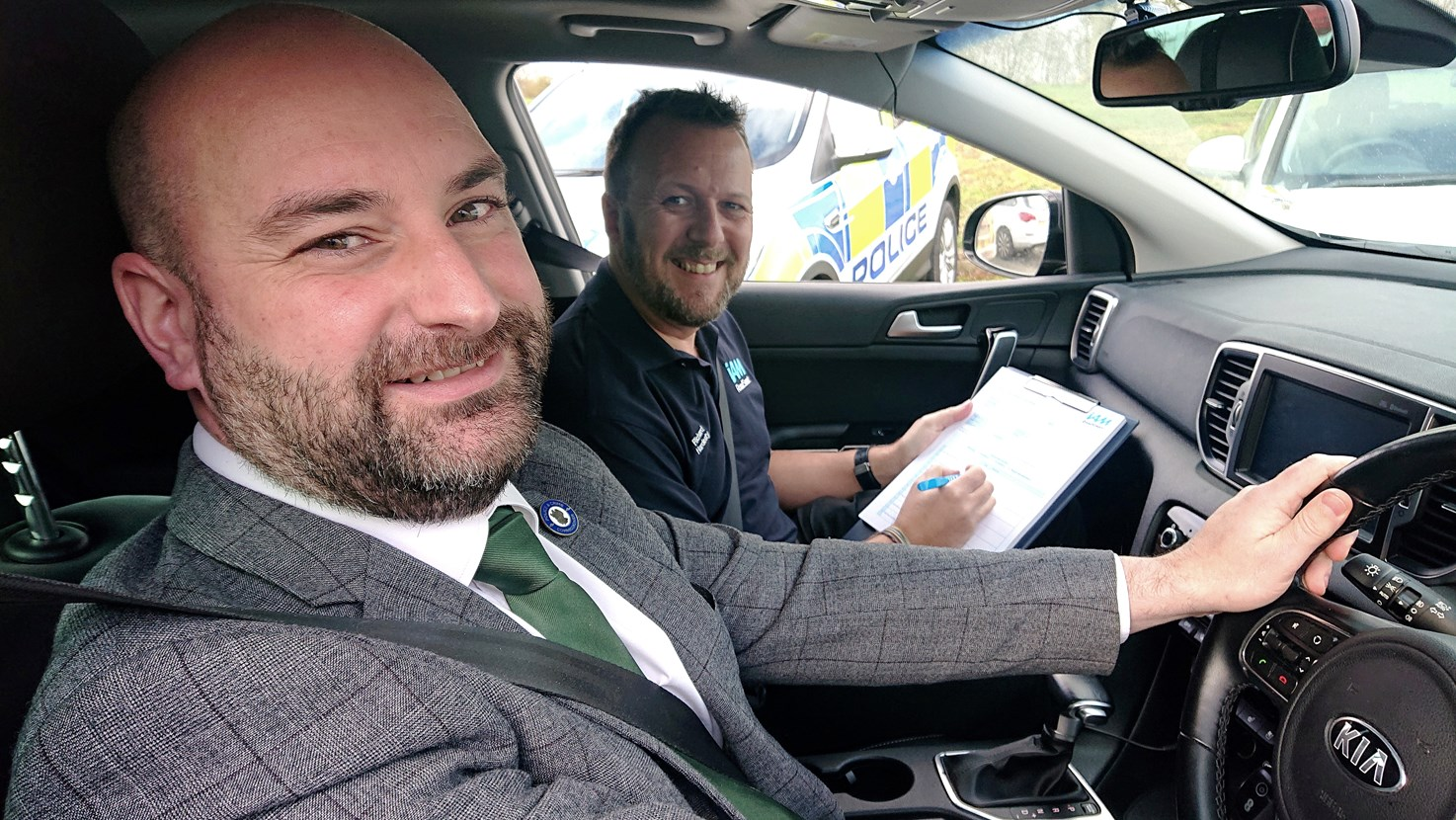 PCC Marc Jones undertakes an advanced driving course