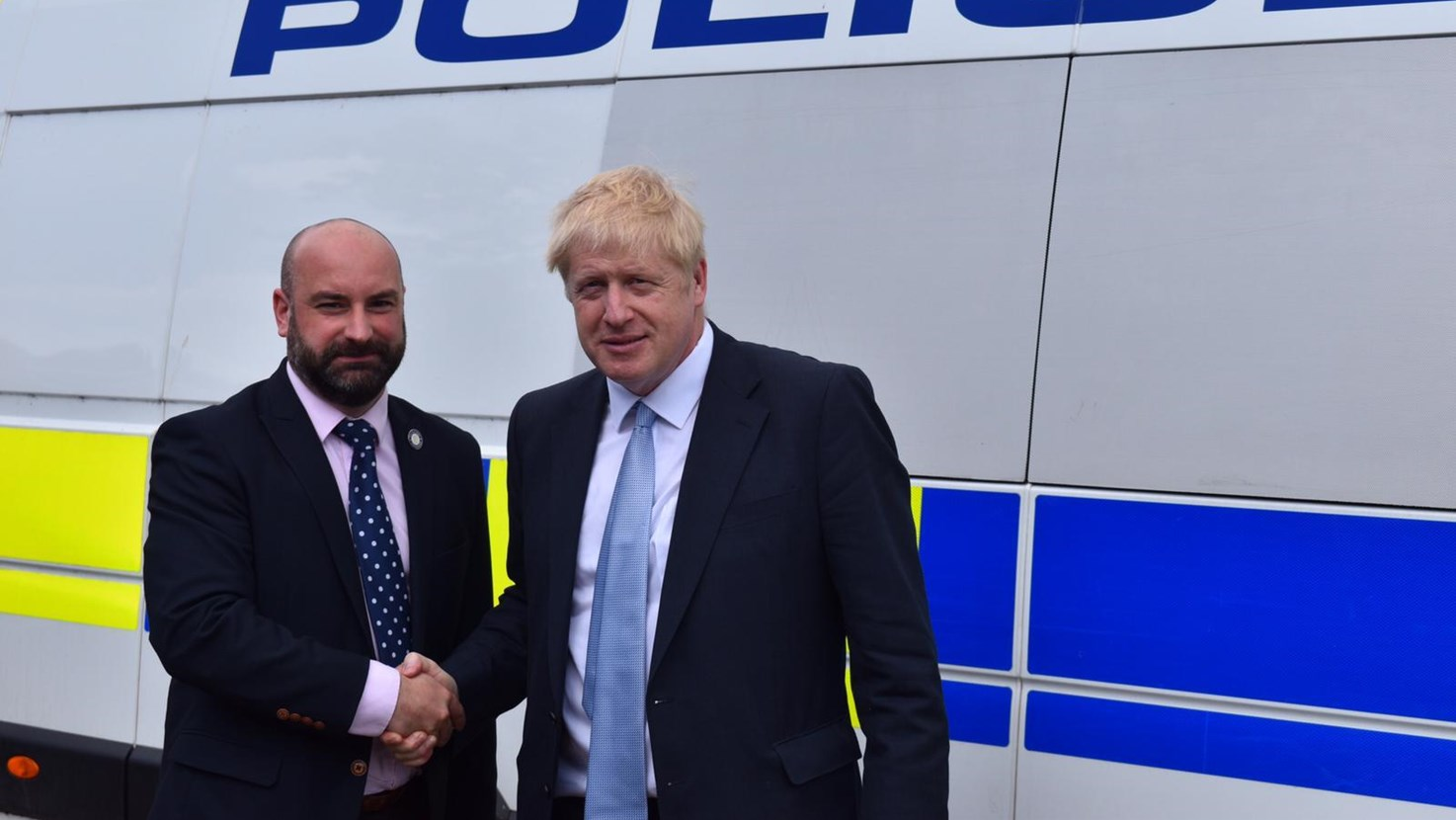 PCC Marc Jones is lobbying both candidates in the fight for Prime Minister